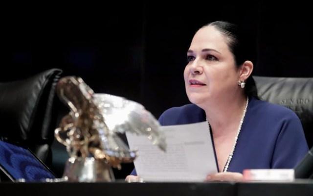 Mónica Fernández respalda pertenencia de Lilly Téllez como senadora de Morena - Mónica Fernández, presidenta del Senado. Foto de @monicaferbal
