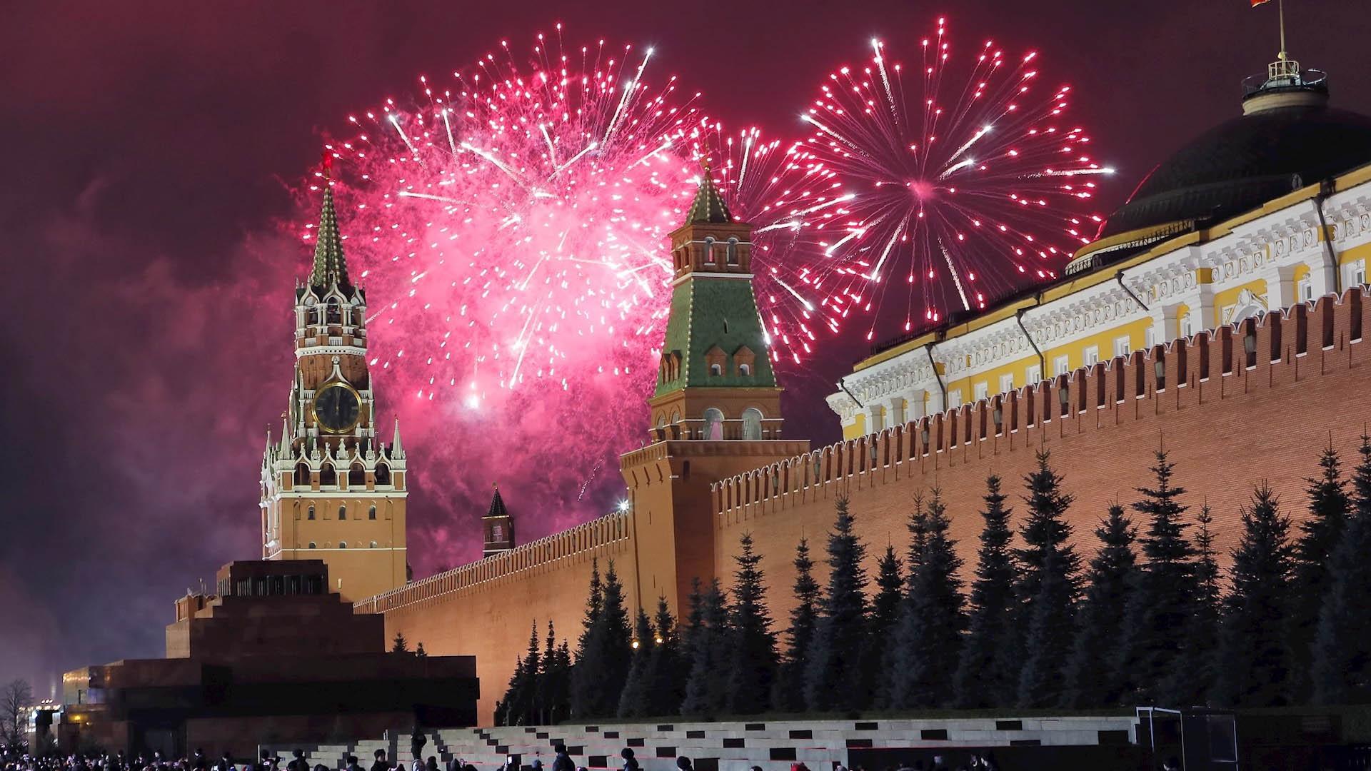 Moscú Rusia Año Nuevo 2020 Plaza Roja