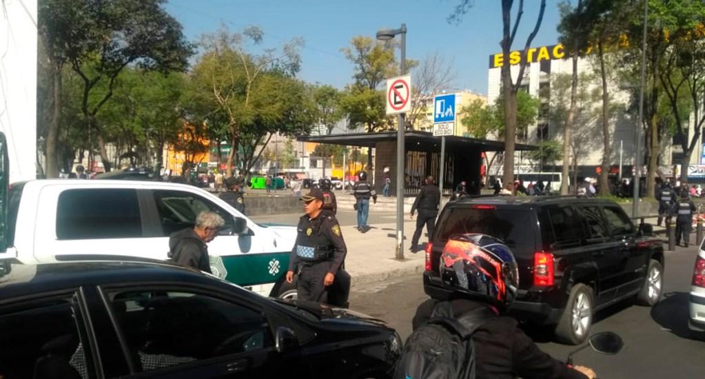 Balacera en la colonia Doctores deja un herido y tres detenidos - Movilización policiaca en la colonia Doctores por balacera. Foto de S. Servín / Foro_TV