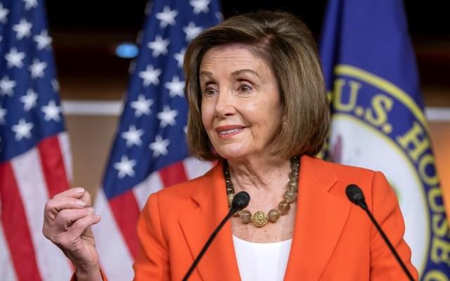 Nancy Pelosi pide iniciar la redacción de los cargos del juicio político a Trump - Nancy Pelosi. Foto de EFE/Erik S. Lesser/Archivo.