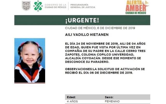 Desaparece niña finlandesa de cuatro años en Coyoacán - Desaparece niña finlandesa de cuatro años en Coyoacán