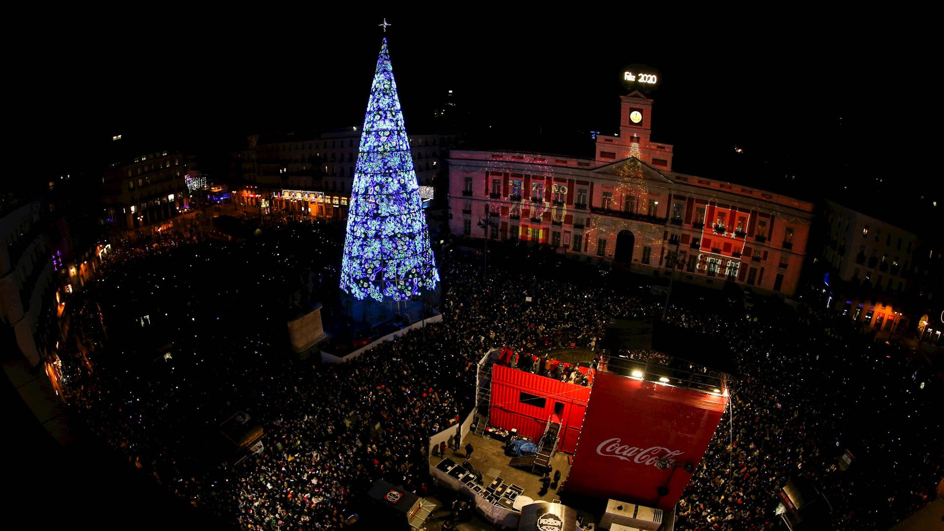 Puerta del Sol Madrid Año Nuevo España
