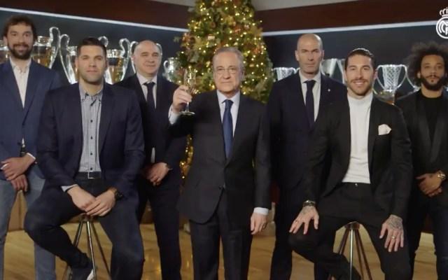 """""""Que 2020 sea un año de éxitos y títulos para el Real Madrid"""", deseó Florentino Pérez - Real Madrid brindis 2019"""