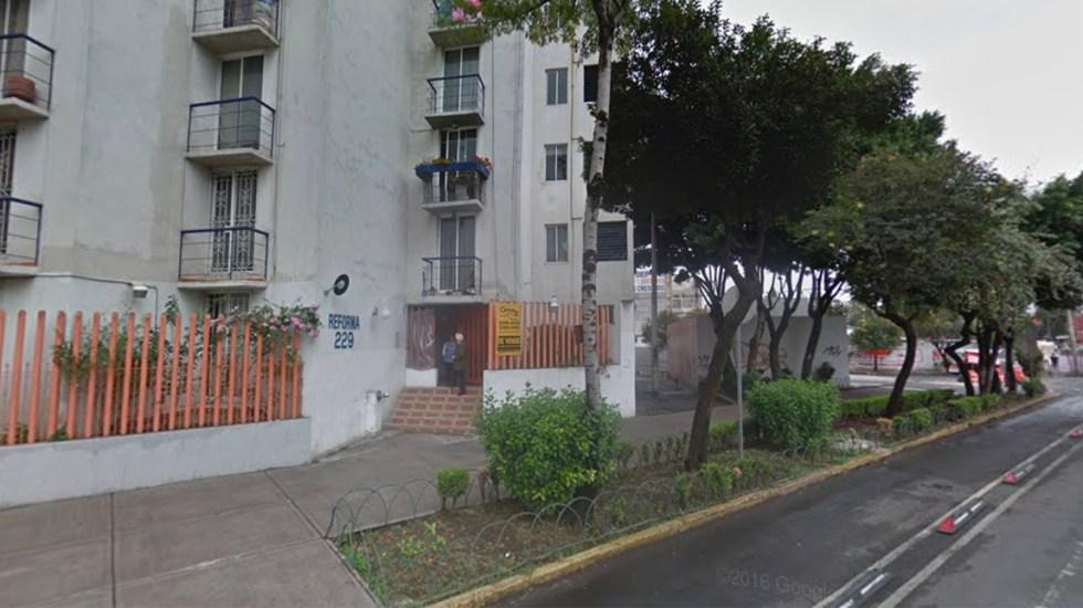 Rescatan a familia intoxicada por gas en departamento de la Guerrero - Este es el edificio donde la familia resultó intoxicada por la fuga de gas. Captura de pantalla Google Maps