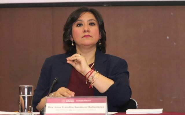 Irma Eréndira Sandoval propone paro de hombres y no de mujeres para sacudir al país - Exceso que comparen a Sandoval con Virgilio Andrade por caso Bartlett, afirma AMLO