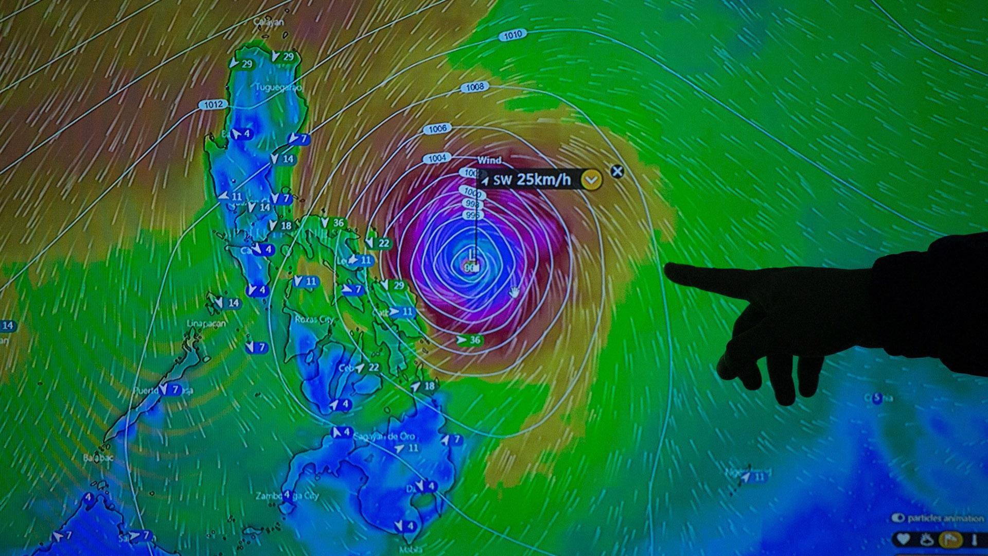 Tifón Kammuri. Foto de EFE