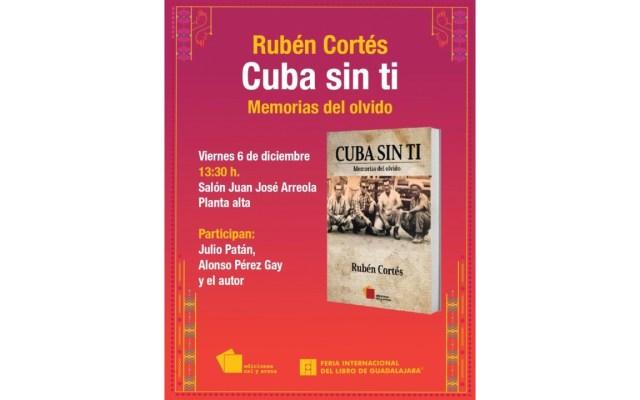Rubén Cortés presentará su libro en la FIL de Guadalajara