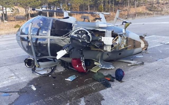 Cuatro tripulantes de helicóptero accidentado se encuentran estables, informa el general Luis Cresencio Sandoval - Accidente del Helicóptero de Sedena en Chihuahua. Foto de SEDENA.