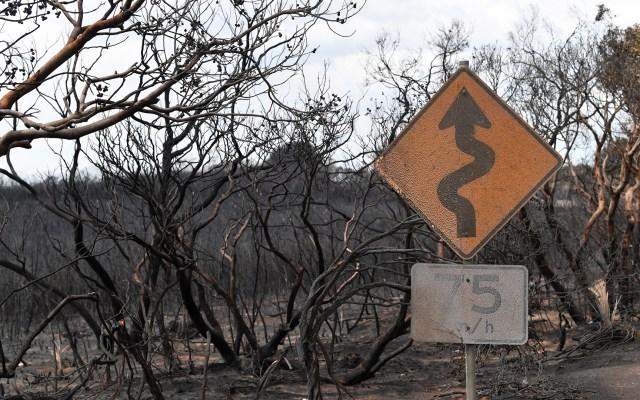 Piden a 240 mil personas evacuar Australia por amenaza de incendios - Afectaciones en la isla de los canguros de Australia por incendios. Foto de EFE
