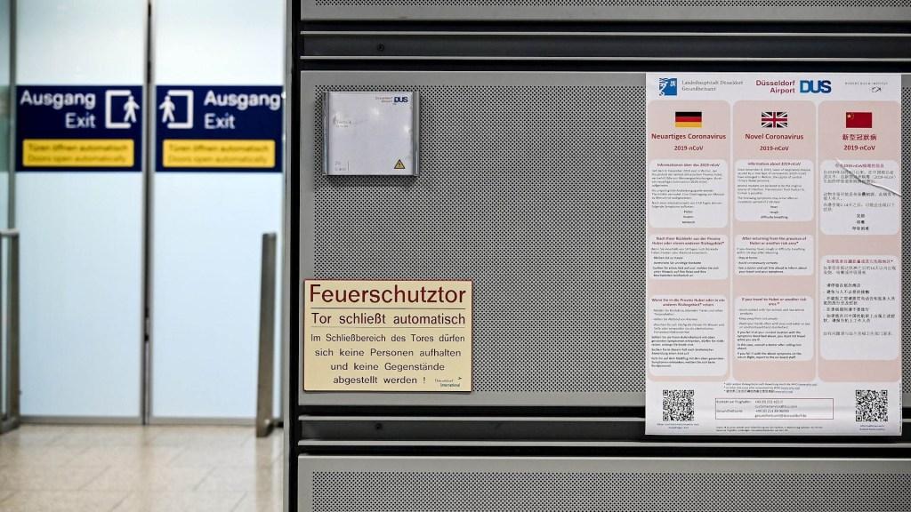 Confirman primer caso de coronavirus de Wuhan en Alemania - Alemania coronavirus Aeropuerto