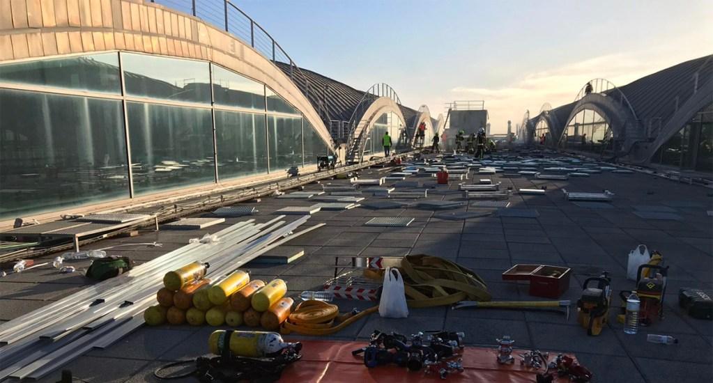 Aeropuerto español de Alicante reabre al tráfico aéreo tras incendio - Aeropuerto español de Alicante reabre al tráfico aéreo tras incendio