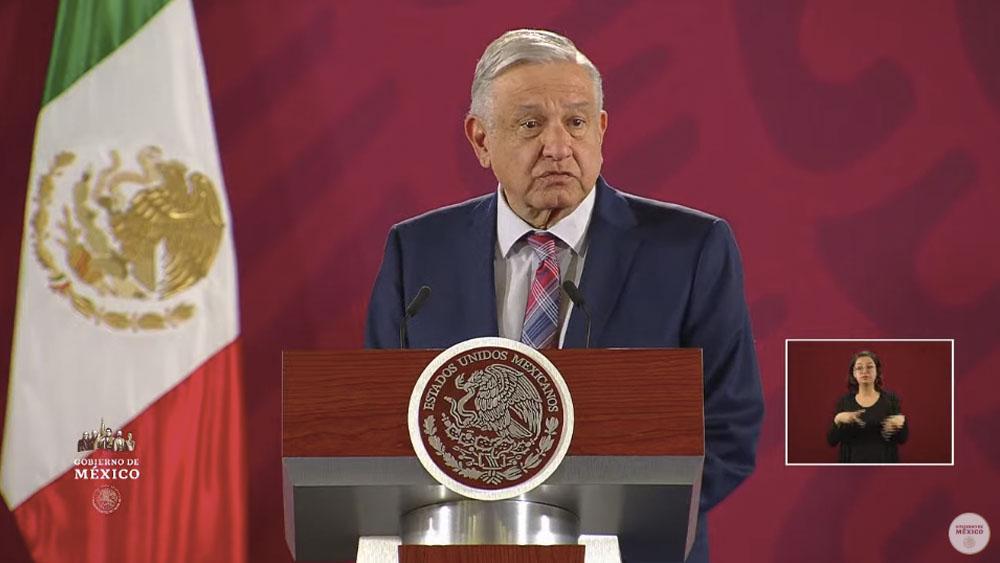 El presidente López Obrador en la conferencia matutina