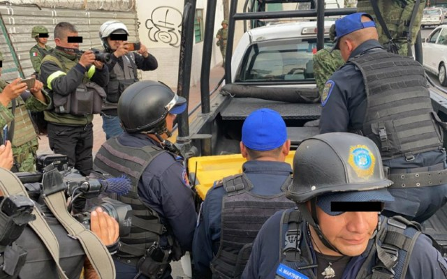 Decomisan arsenal en inmueble de la alcaldía Gustavo A. Madero - Foto de Foro TV