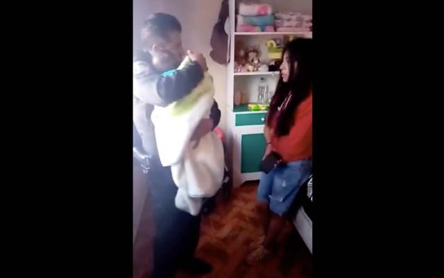 Policía capitalino reanima a bebé que no respiraba - Bebé policía SSC Ciudad de México