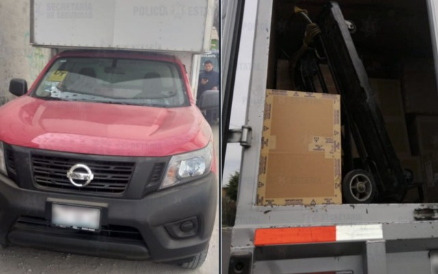 Recuperan camioneta robada que transportaba mercancía por 480 mil pesos - Foto de @SS_Edomex