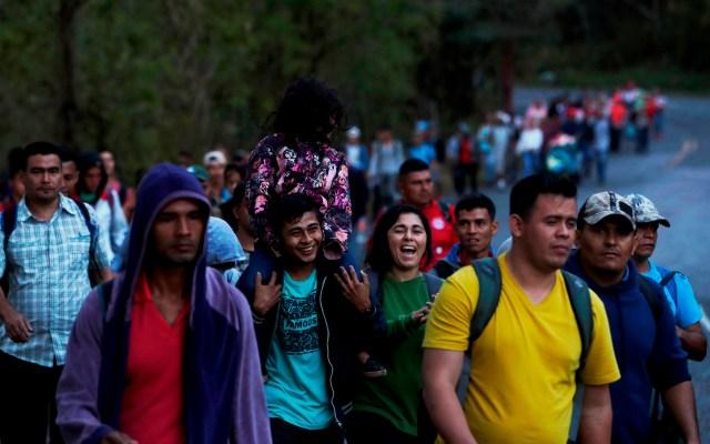 #Video Caravana migrante alista cruce a México desde Guatemala - Caravana migrante procedente de Honduras. Foto de EFE