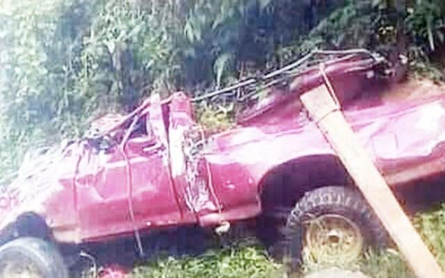Volcadura de camioneta en Chiapas deja al menos dos muertos - Chiapas accidente camioneta volcadura