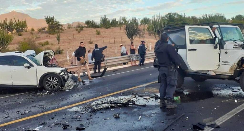 Choque en Autopista Siglo XXI deja un muerto y un herido; cierran circulación - El choque ocurrió en el km. 206, a la altura del municipio de Arteaga, entre un auto Mazda y una camioneta Jeep