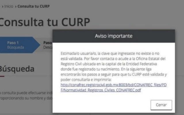 Se multiplican quejas de ciudadanos por desaparición de CURP - Foto de @MichEnLineaMX