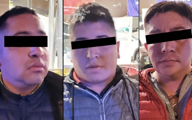 Detienen a tres presuntos implicados en asaltos sobre Periférico - Detenidos asaltos SSC Periférico