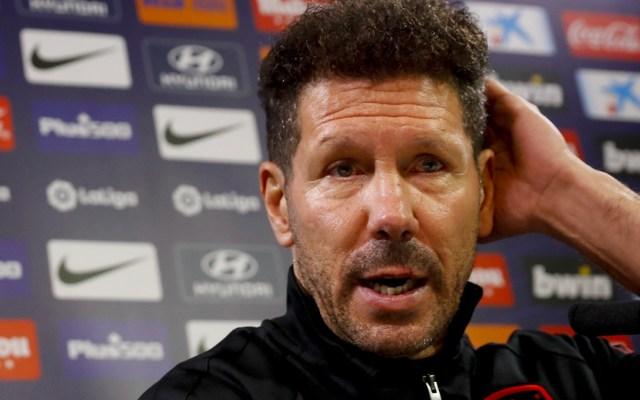 Diego Simeone niega distinción entre jugadores del Atlético de Madrid - Diego Simeone negó que exista distinción entre sus jugadores del Atlético de Madrid