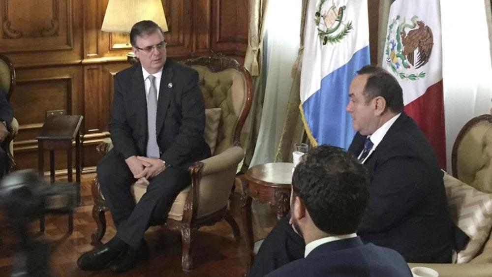 Ebrard anuncia diálogo bilateral con Guatemala por migración