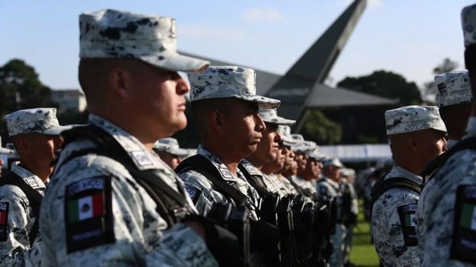 Presencia de Guardia Nacional en 159 de las 260 regiones del país - Elementos de la Guardia Nacional en el Campo Militar Número 1. Foto de GN