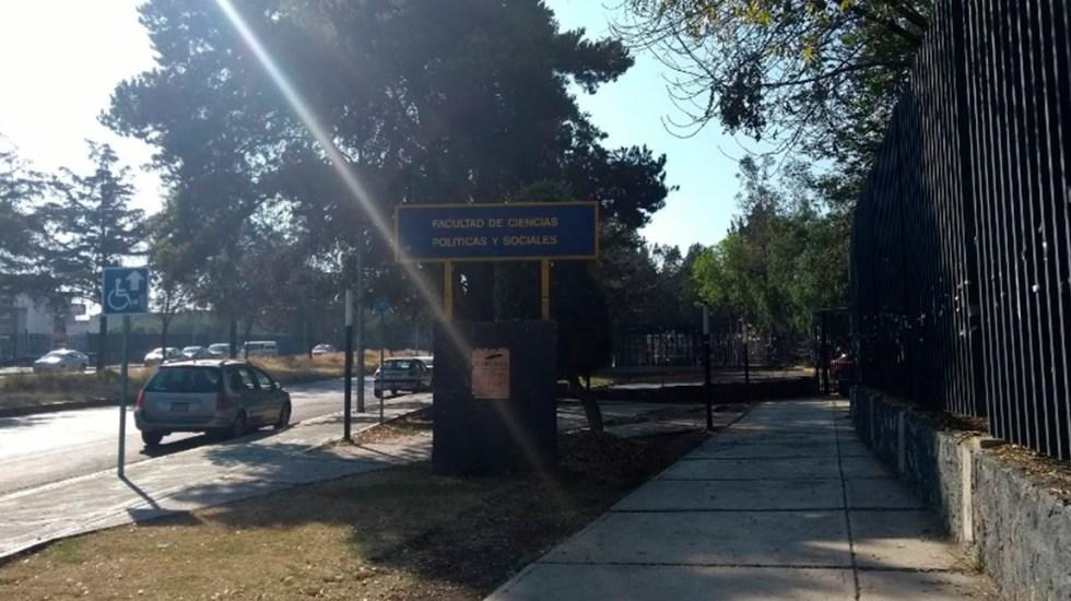 Liberan la Facultad de Ciencias Políticas de la UNAM - Facultad de Ciencias Políticas Sociales de la UNAM. Foto de Google Maps / Zuri Luh
