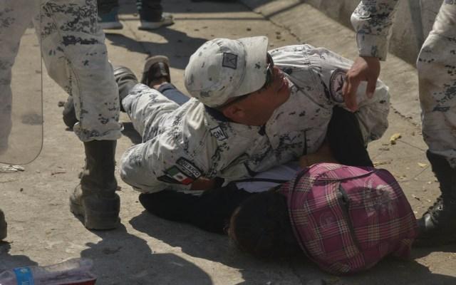 EE.UU. reconoce labor de México para detener caravanas migrantes - Guardia Nacional Migrantes caravana