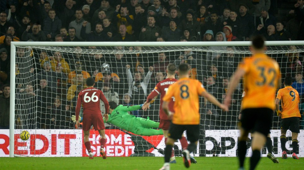 #Video Gol de Raúl Jiménez en derrota de Wolves ante Liverpool - Gol de Raúl Jiménez al Liverpool