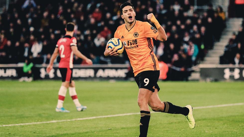 #Video Doblete de Raúl Jiménez contra Southampton - Foto de Twitter/@Wolves