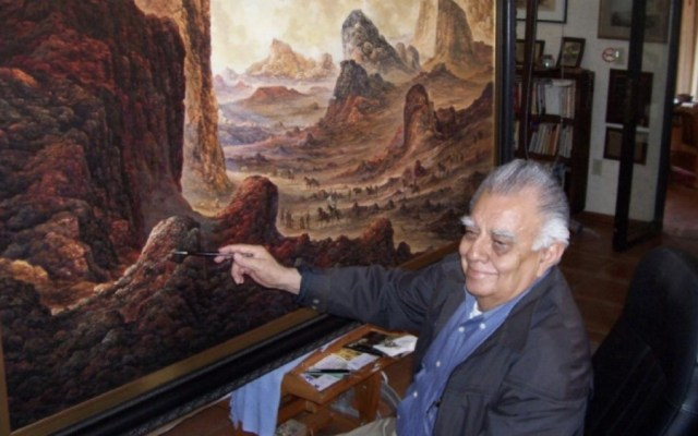 Murió Jorge Cázares, pintor de los paisajes en las cajas de cerillos - Foto de Gobierno de Morelos