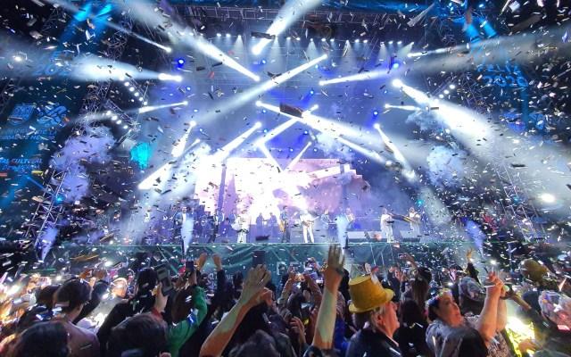 Más de 180 mil personas recibieron el 2020 con Los Ángeles Azules - Los Ángeles Azules en concierto de Año Nuevo en la Glorieta de la Palma. Foto de @CulturaCiudadMx
