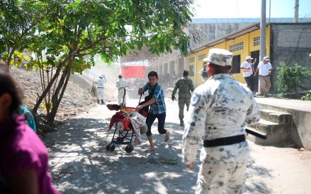 Muñoz Ledo califica de 'salvaje' la actuación de la GN con migrantes - Más de 400 elementos de la Guardia Nacional resguardan la frontera de México con Guatemala. Foto de EFE