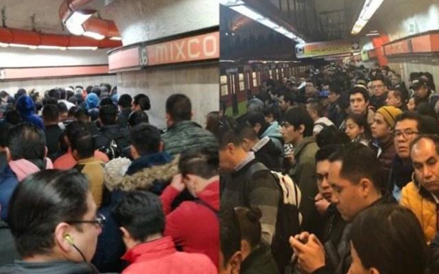 #Video Usuarios del Metro denuncian grave saturación en la Línea 7 - Usuarios del Metro denuncian grave saturación en la Línea 7