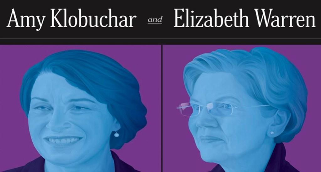 The New York Times apoyará a las aspirantes demócratas Klobuchar y Warren - El consejo editorial The New York Times anunció este domingo su respaldo a las senadoras Amy Klobuchar y Elizabeth Warren