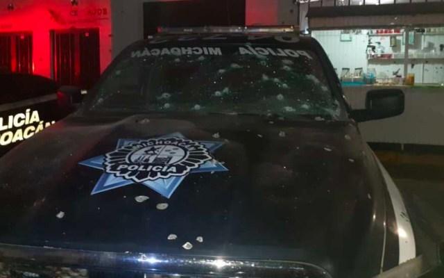 Balean patrulla de Michoacán en el municipio de Epitacio Huerta - La SSP de Michoacán desplegó un dispositivo de vigilancia en la localidad de Epitacio Huerta, luego de que fuera baleada una patrulla de Policía Municipal