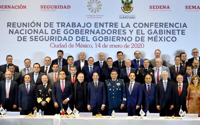 Alfonso Durazo se reunirá cada dos meses con la Conago - Reunión de Trabajo entre la Conago y el Gabinete de Seguridad Federal. Foto de @CONAGO_oficial