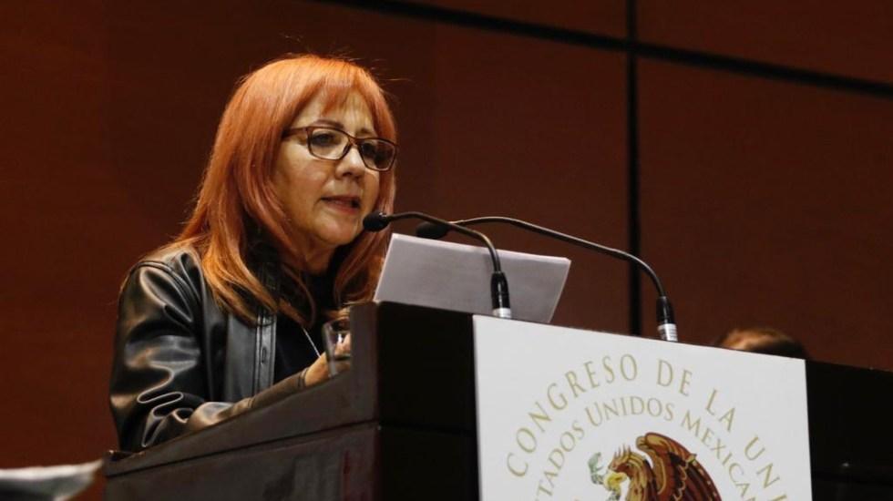Rosario Piedra aplica plan de austeridad en la CNDH - Rosario Piedra, titular de la CNDH. Foto de @CNDH