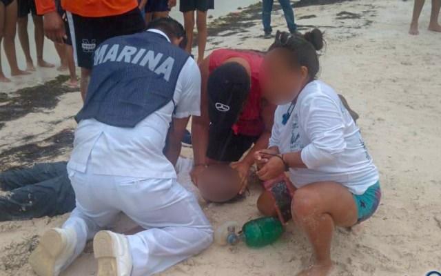 Marinos rescatan a 28 personas en costas de Quintana Roo - Semar rescate Quintana Roo