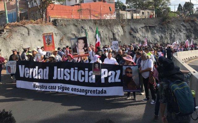 Avanza Caminata por la Verdad, la Justicia y la Paz, encabezada por Javier Sicilia y hermanos LeBarón - Avance de la Caminata por La Verdad, la Justicia y La Paz. Foto de @MxLaPazMx
