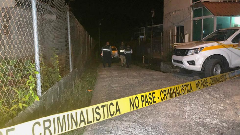 Sicarios asesinan en Panamá a una pareja y su bebé de dos meses - Sitio en el que asesinaron a una pareja y su bebé en Panamá. Foto Especial / En Segundos
