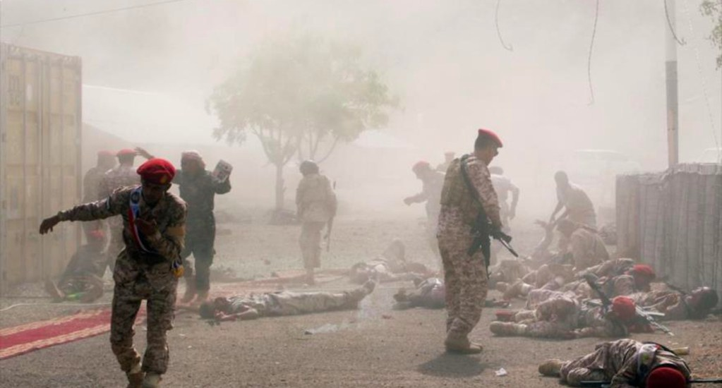 Van más de 60 soldados muertos tras ataque con misiles en Yemen, según TV saudí - Van más de 60 soldados muertos tras ataque con misiles en Yemen, según TV saudí
