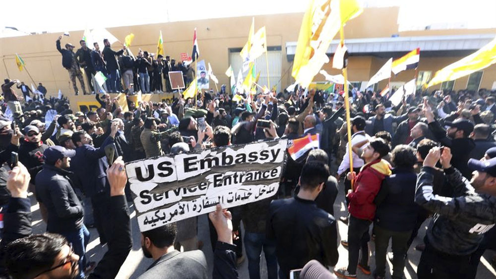 Suspenden asedio a embajada de EE.UU. en Irak