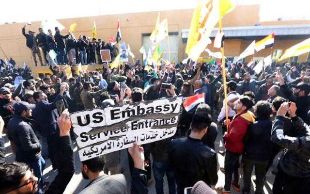 Suspenden asedio a embajada de EE.UU. en Irak - Suspenden asedio a embajada de EE.UU. en Irak