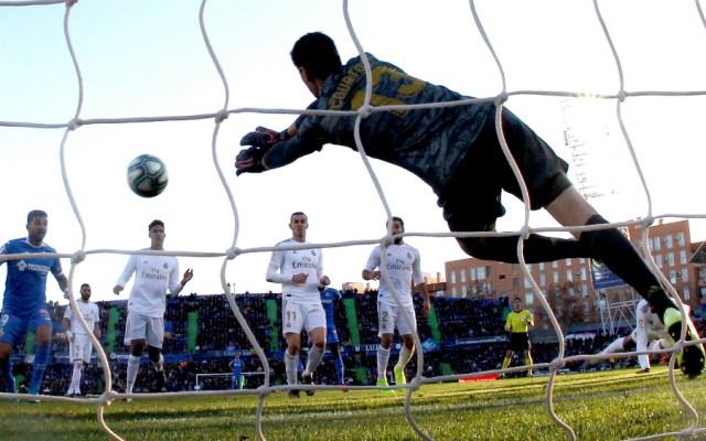 Con gran actuación de Courtois, Real Madrid venció a Getafe - Foto de EFE