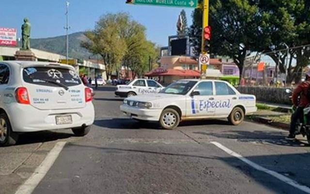 Transportistas levantan bloqueos en vialidades de Uruapan, Michoacán - Transportistas levantan bloqueos en vialidades de Uruapan