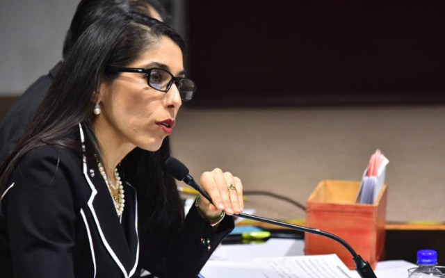 Acepta fiscal de Veracruz parentesco con presunta operadora de 'Los Zetas' - Verónica Hernández, encargada de despacho de la Fiscalía de Veracruz. Foto de Congreso de Veracruz