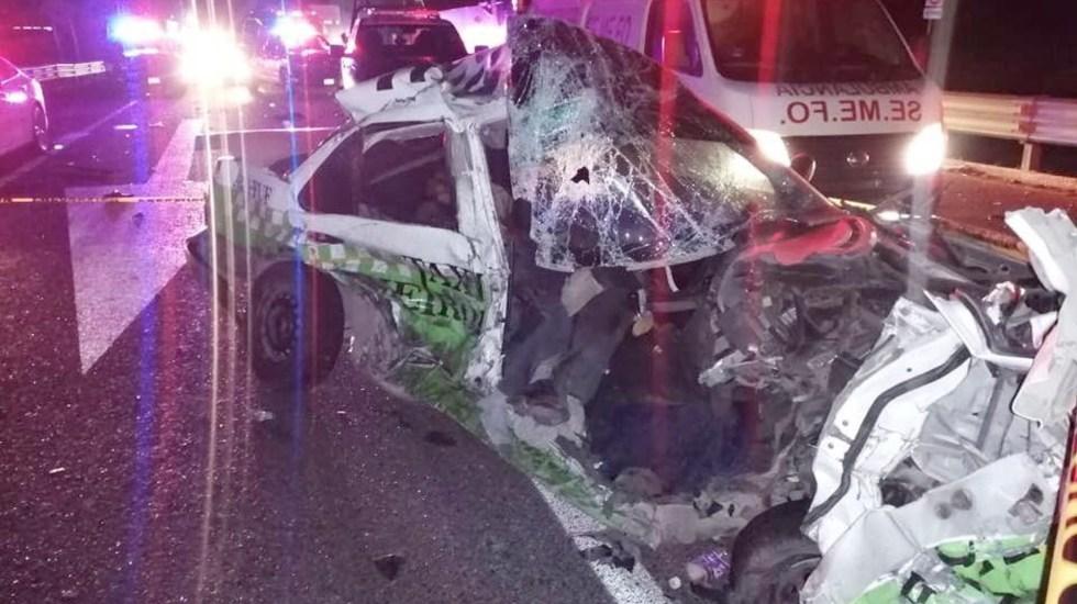 Accidente deja un muerto y tres heridos en la México-Pachuca - Accidente deja un muerto y tres heridos en la México-Pachuca