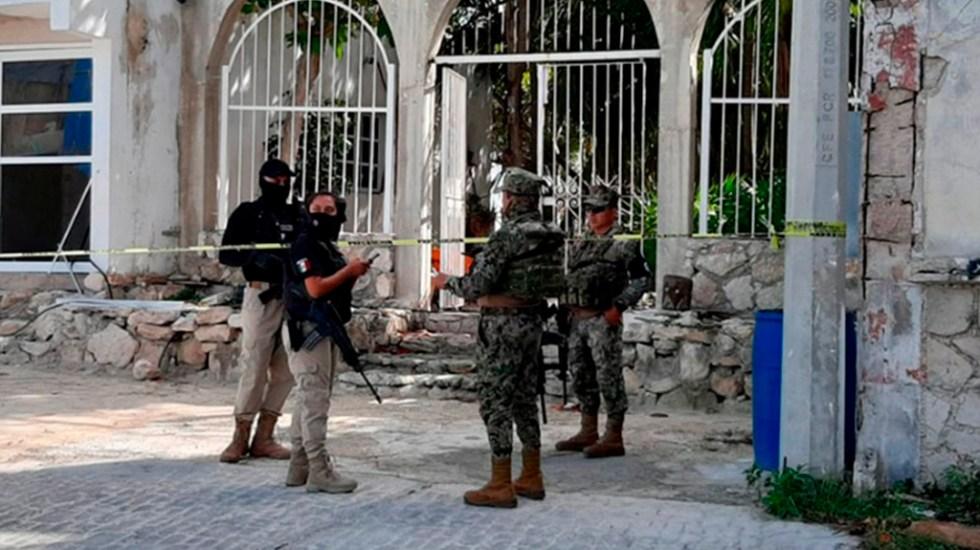Marinos con insignias de GN agreden en Cancún a dos periodistas - Agentes de la Semar. Foto de Vanguardia Veracruz